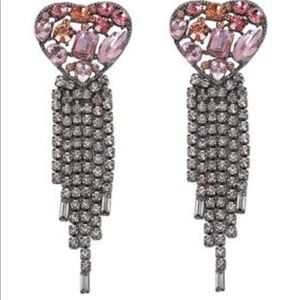 Raining Heart Earrings Brand New